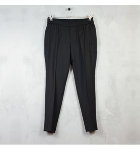 Cropped Wool Track Trousers