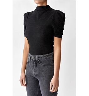 Barb Top Black Lurex
